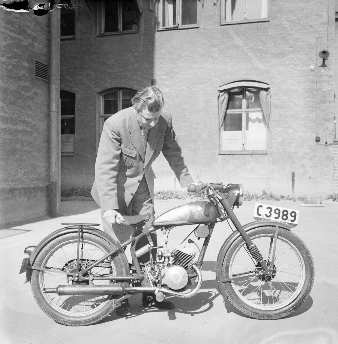 Nymanbolagen, moped, Uppsala, maj 1949