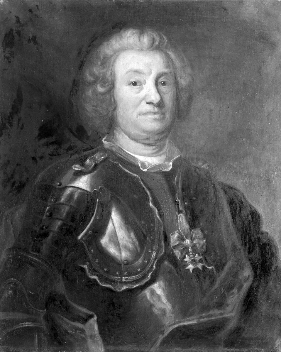 Fotograferad tavla föreställande porträtt av Hans Hierta, ägare av Högbo bruk.