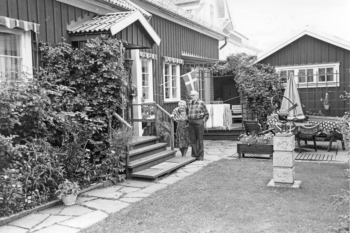 Landstingsdirektör Edvin och Karin Jansson, bostadshus i Gamla Gävle.