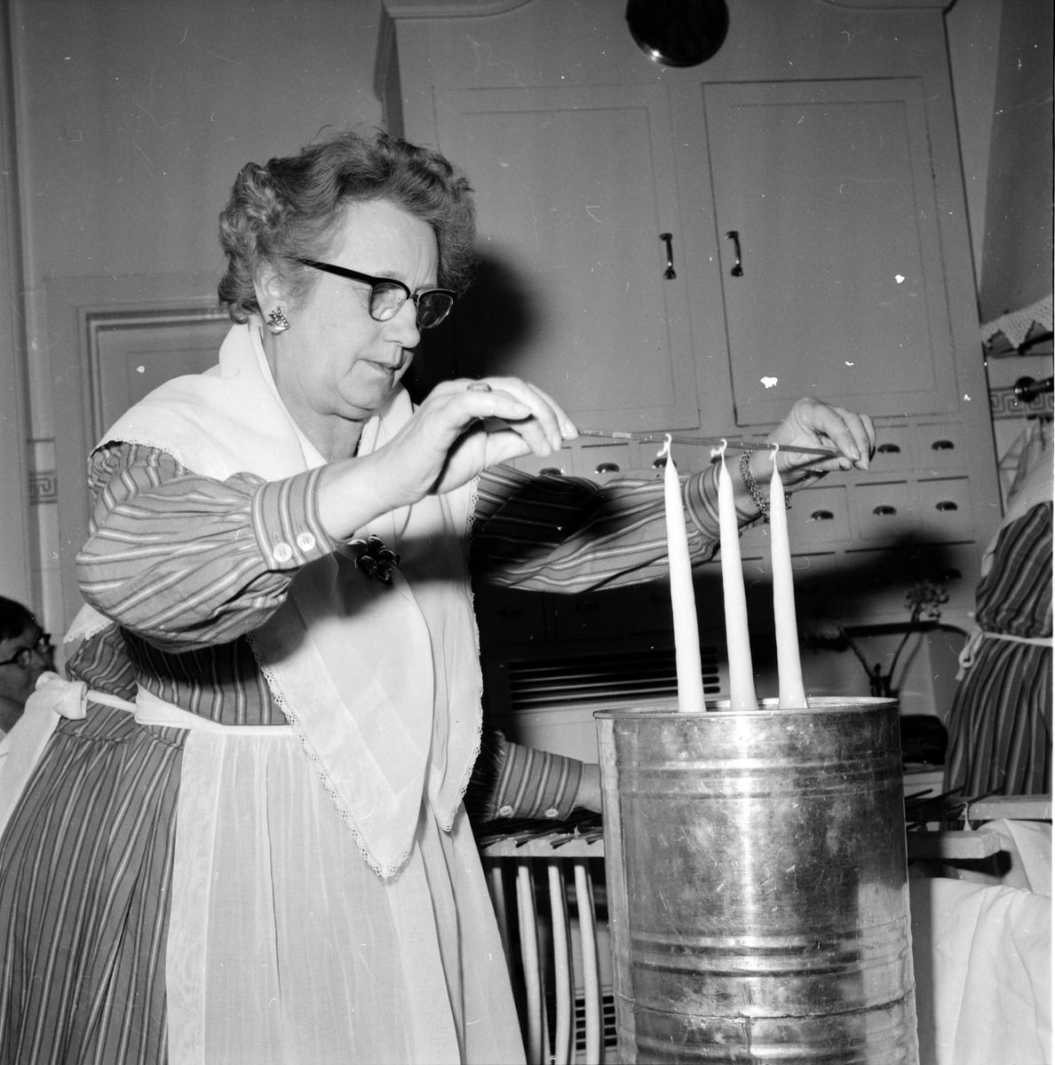 Ljusstöpning, Husmodersföreningen, 1962