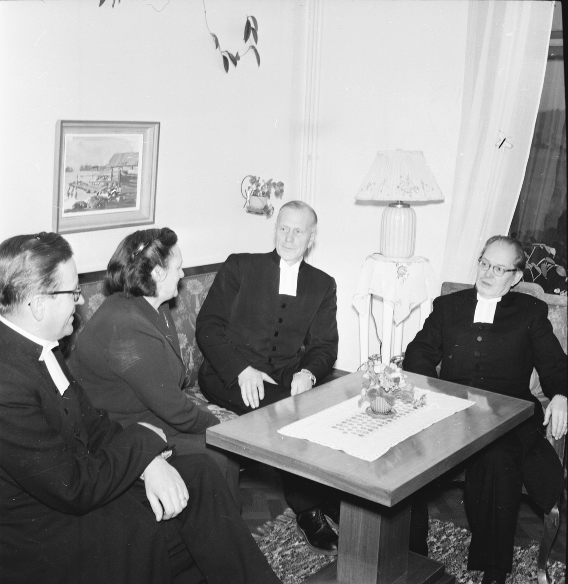 Prostvisitation, Pontén,Humble,Wallén,Broman Lingbo Nov. 1953