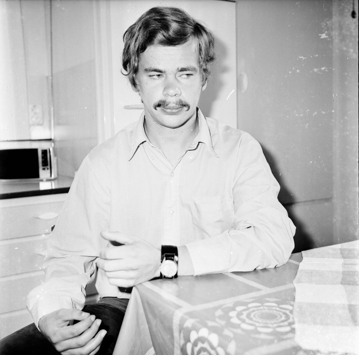 Polisman Bengt-Olov Rottlin. Norrmalmstorgsdramat. Augusti 1973