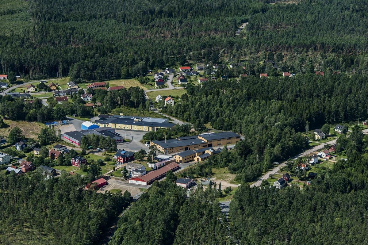 Flygfoto över Björköby.
