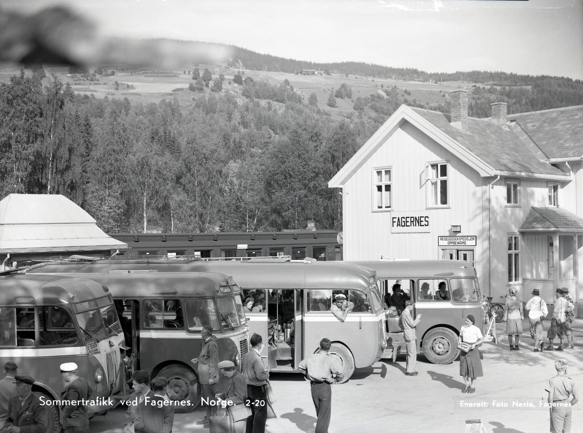 Bussoppstillingsplass, Fagernes sentrum.