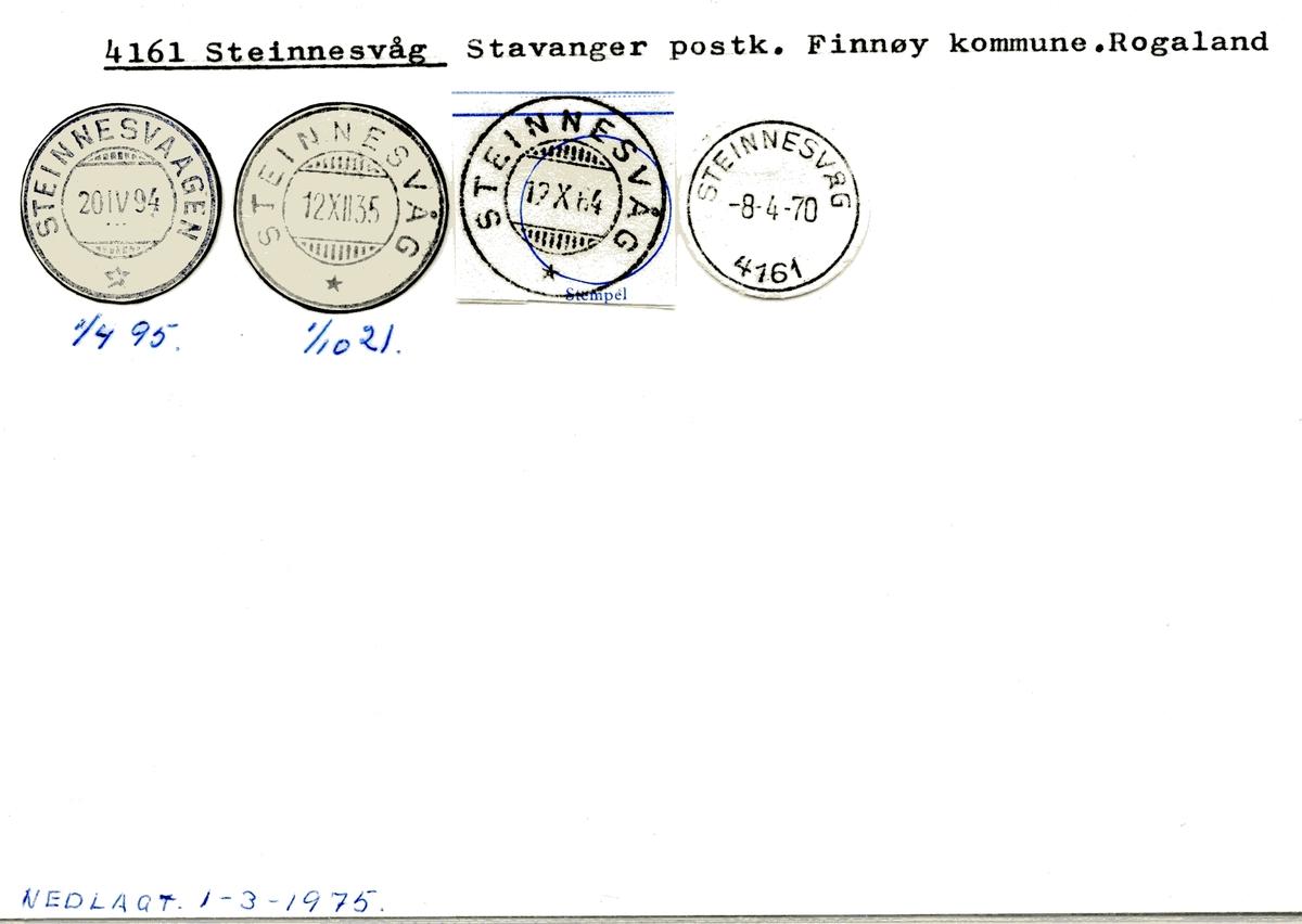 4161 Steinnesvåg, Stavanger, Finnøy, Rogaland