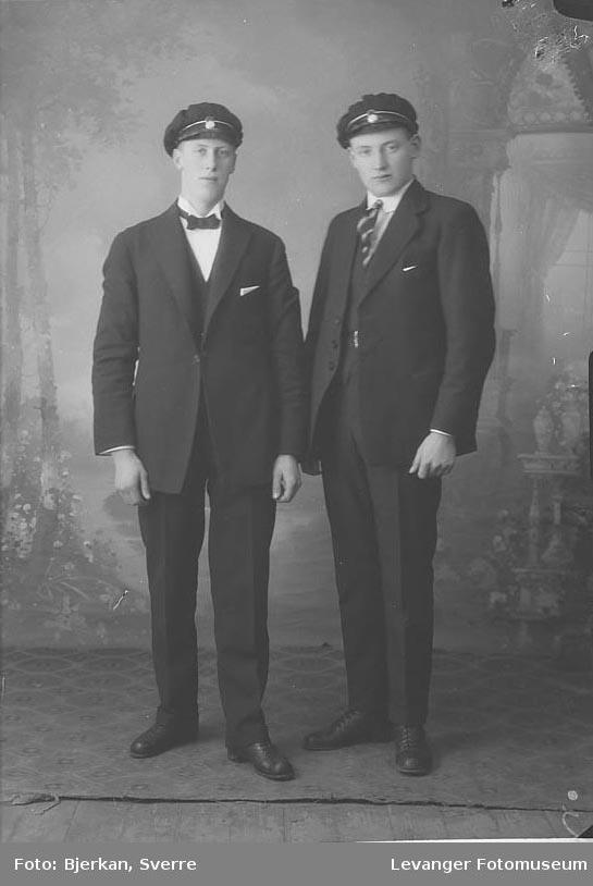 Portrett av Kvås og Måna fornavn ukjent på begge