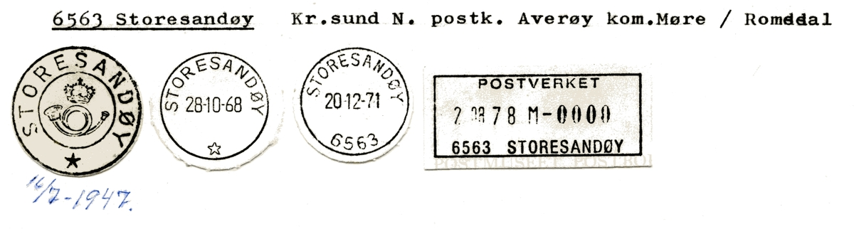 Stempelkatalog 6563 Storesandøy, Averøy, Møre og Romsdal