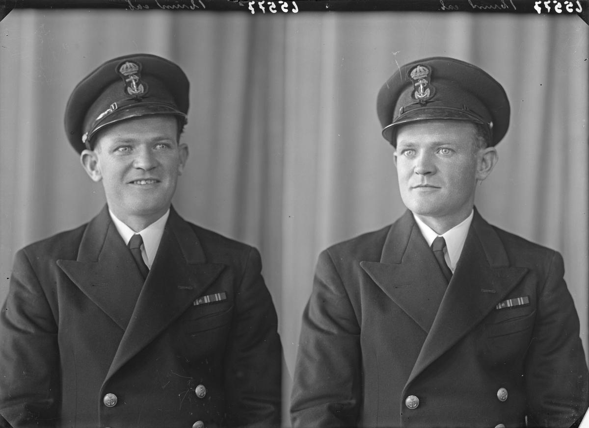 Portrett. Mann i uniform. Marineoffiser. Bestilt av Einar Svanberg