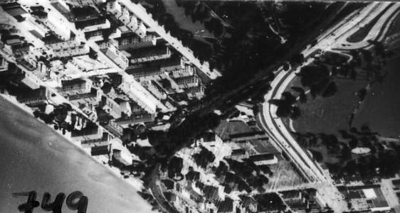 Flygfoto över östra Jönköping.