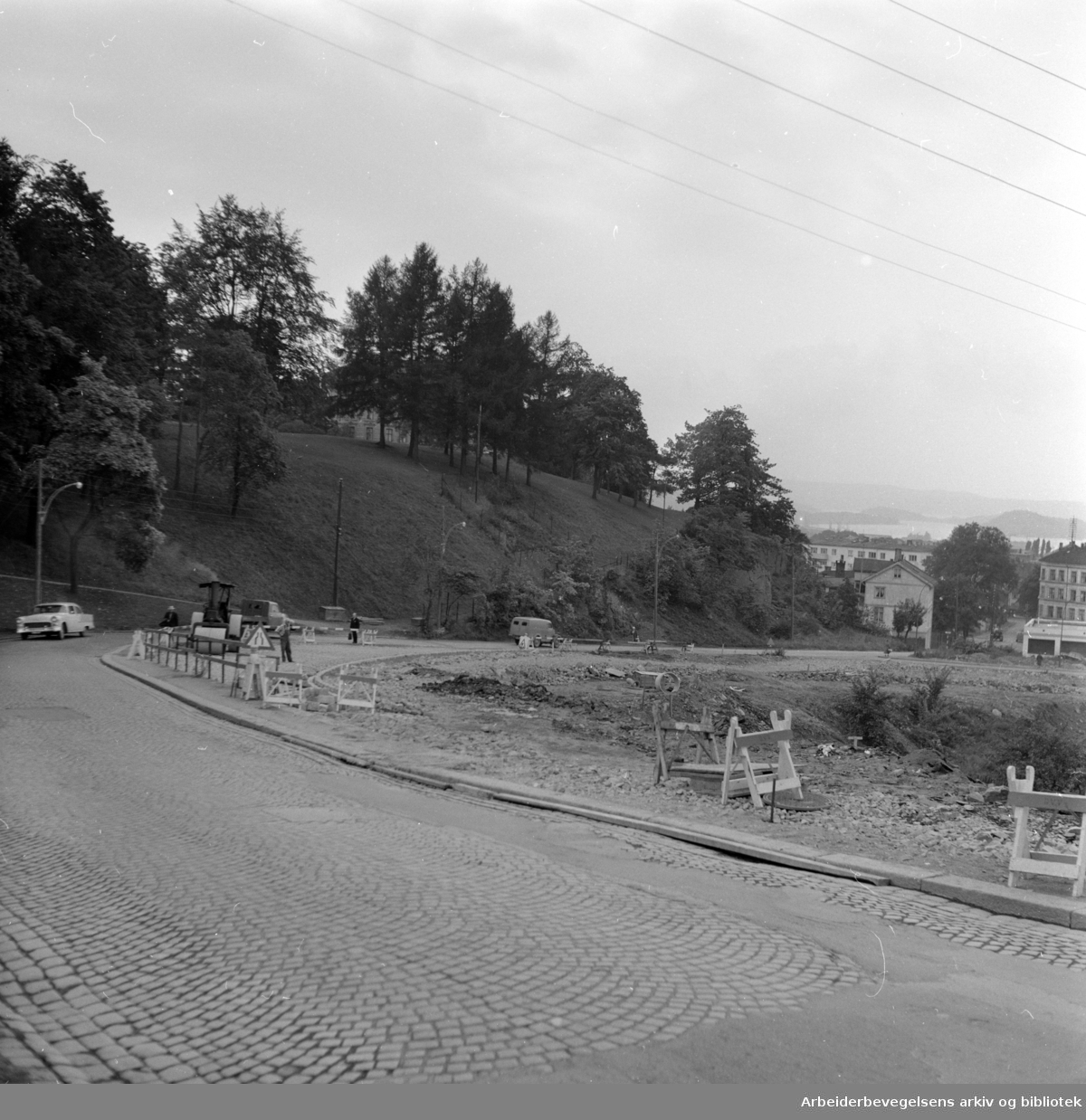 Tøyen: Økernveien. September 1960