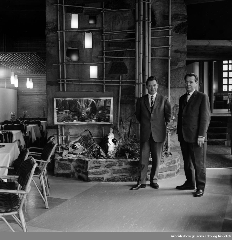 Soria Moria kino. Restauranten. Oktober 1962