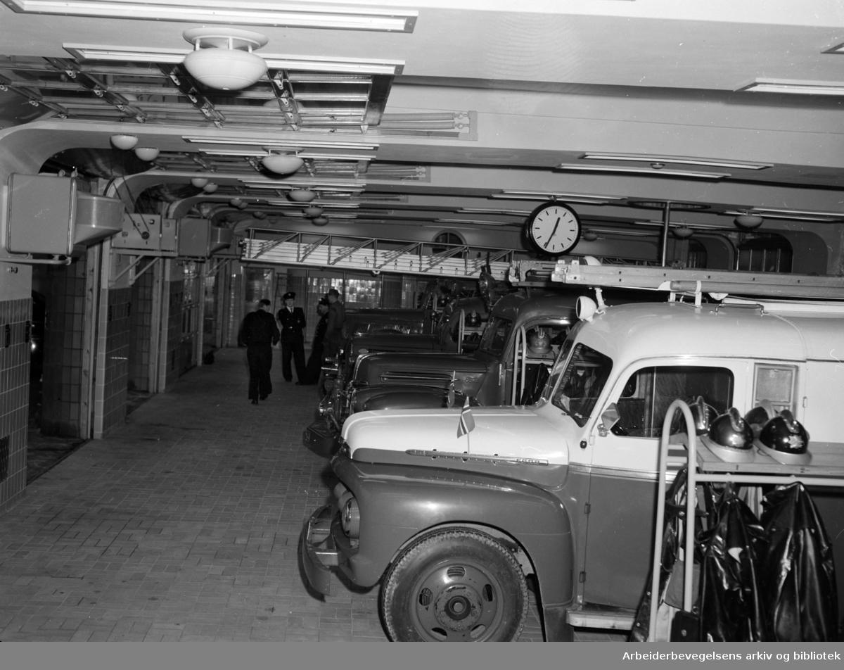 Smestad brannstasjon. Oktober 1953