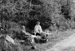 Setertur, Stange allmenning, matpause, nistepakke f.v. Håkon