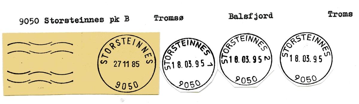 Stempelkatalog  9050 Storsteinnes, Balsfjord kommune, Troms