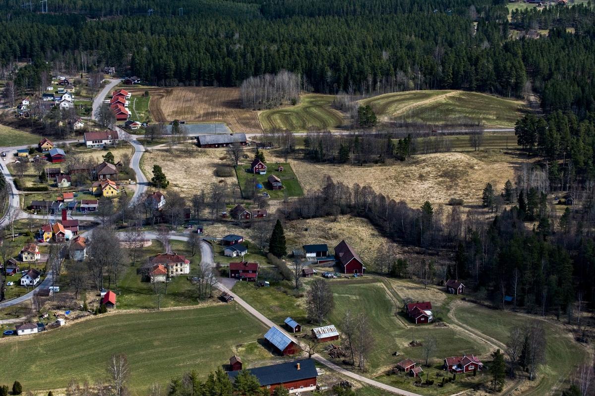 Flygfoto över Hullaryd i Aneby kommun.