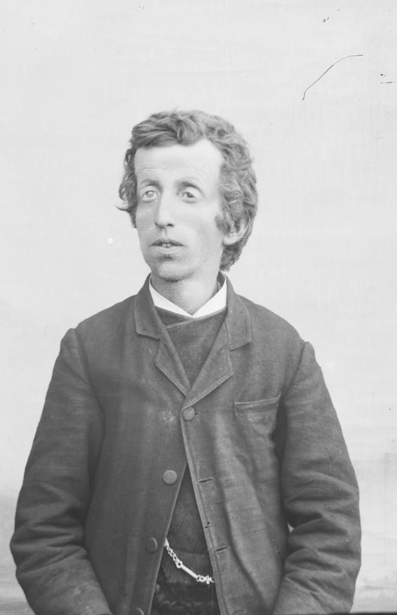 Portrett av mann. Antatt navn Ole A. Granheim.