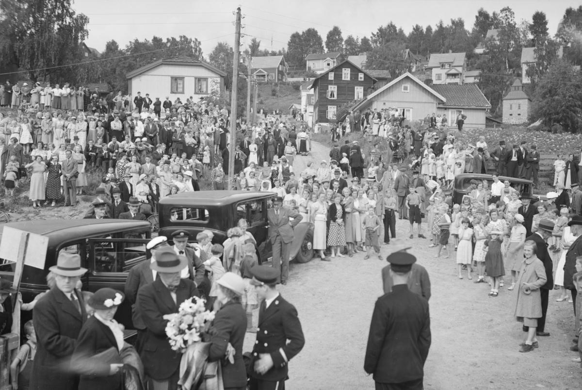 Dronning Wilhelmina av Nederland på besøk i Lillehammer.