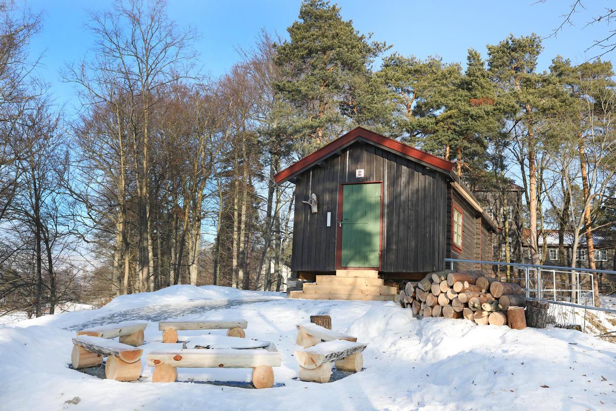 DNT-hytta Hovinkoia på Norsk Folkmuseum 7. februar 2018. (Foto/Photo)