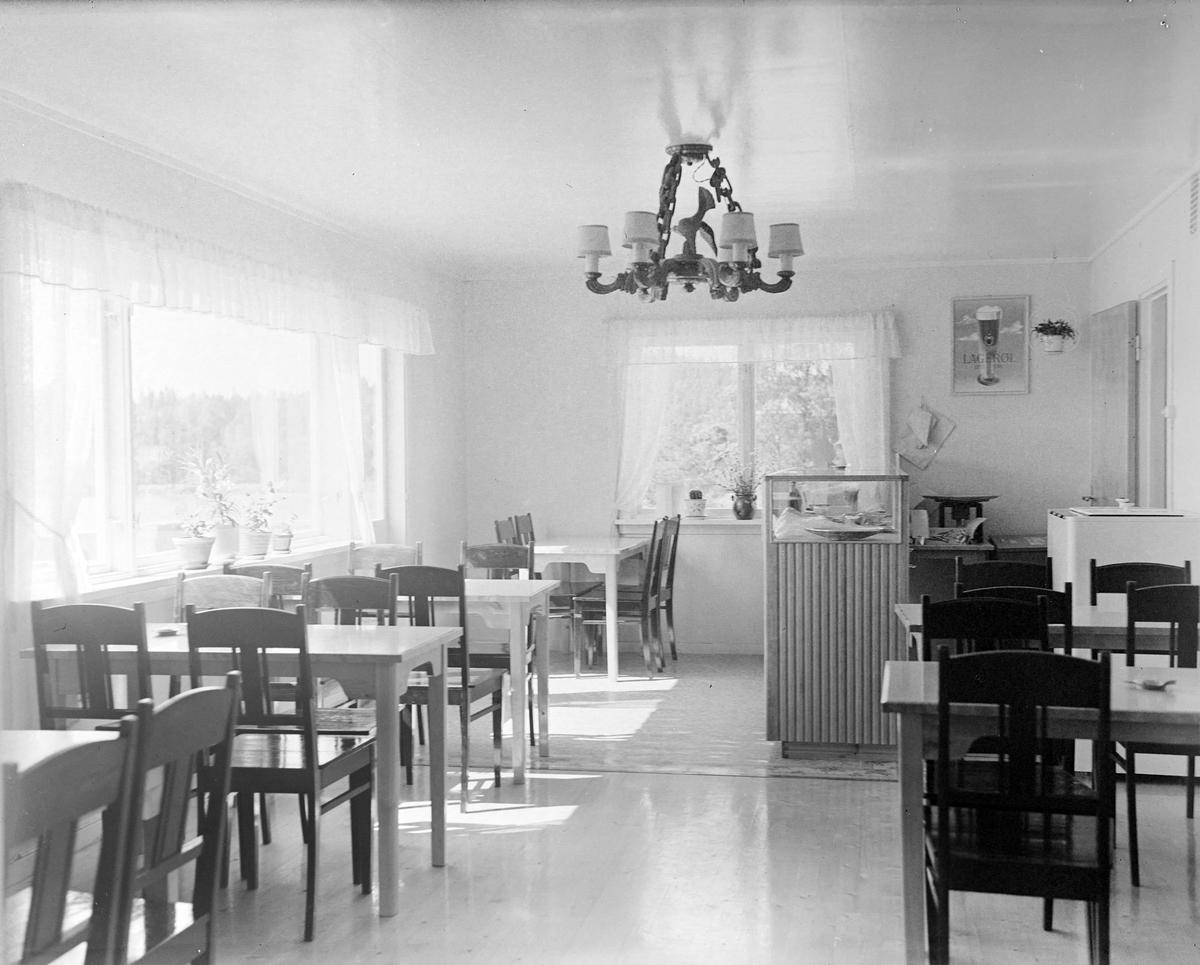 Kafe interiør fra Osloveien Ytre Enebakk.