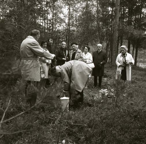 Albert Vikstens aska sprids vid Törnet söndagen den 7 september 1969.