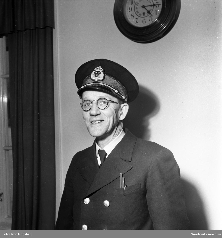 Oskar Henrik Pettersson, stationsmästare vid Söråkers station.