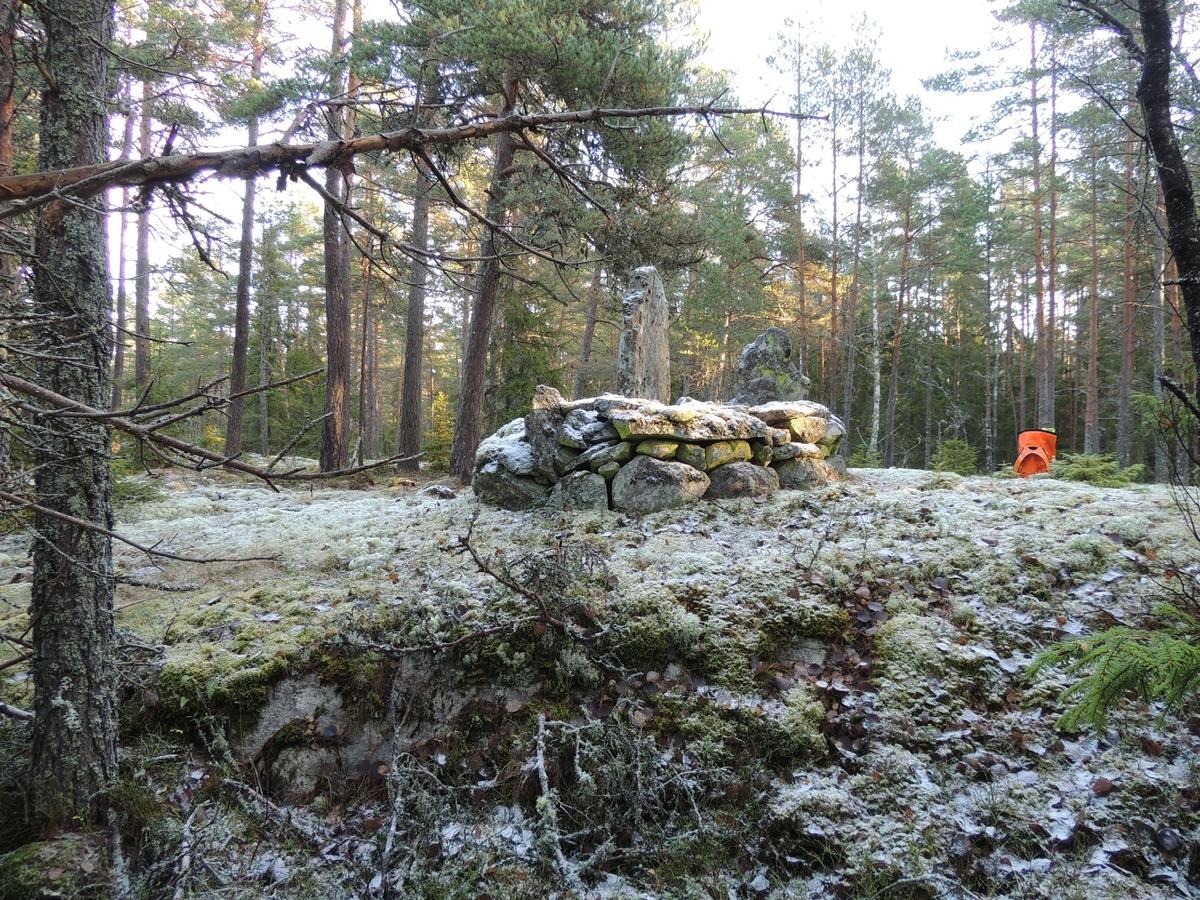 Arkeologisk utredning, objekt 9, A128, gränsmärke, Husby, Markims socken, Uppland 2017