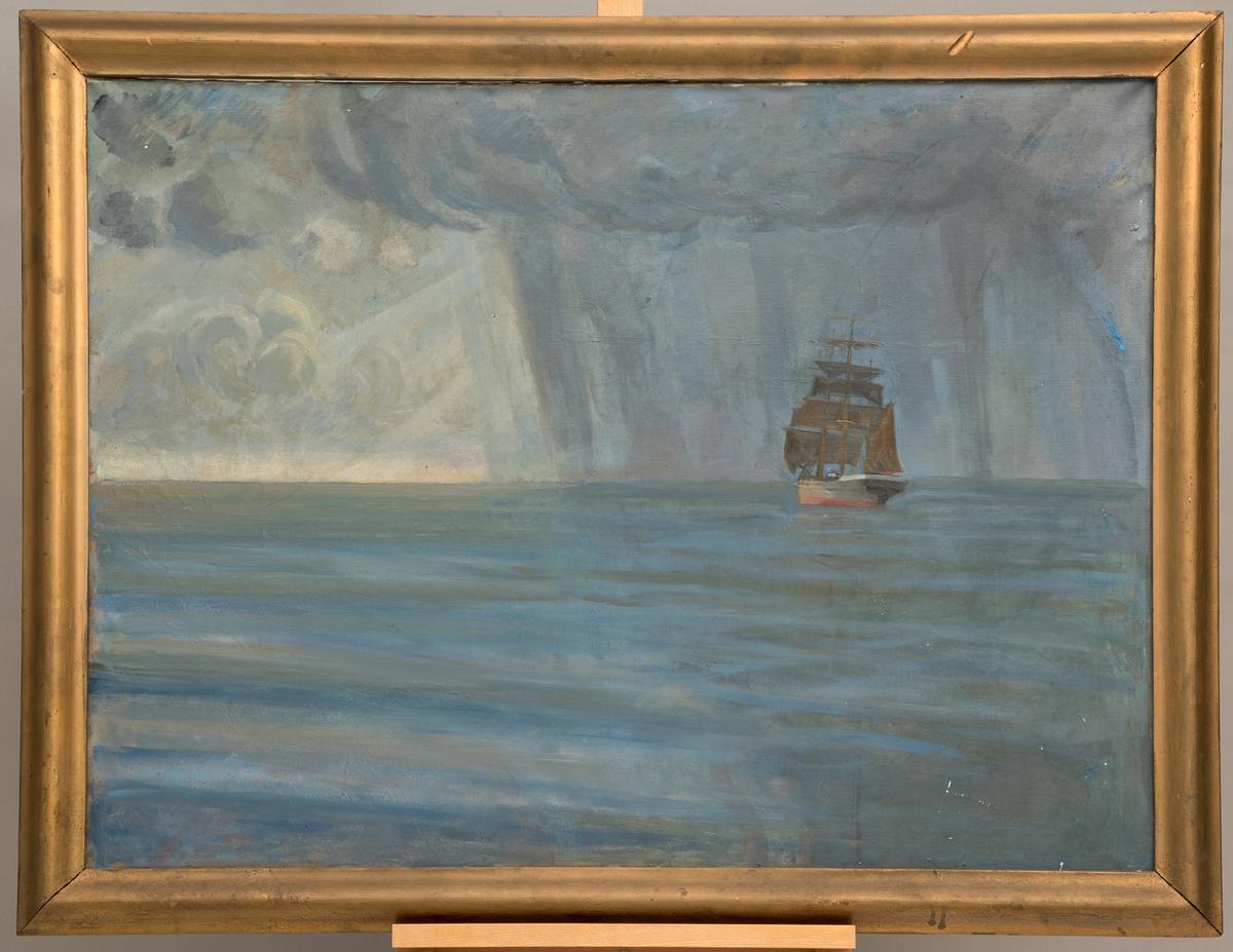 Barkskip i åpent hav