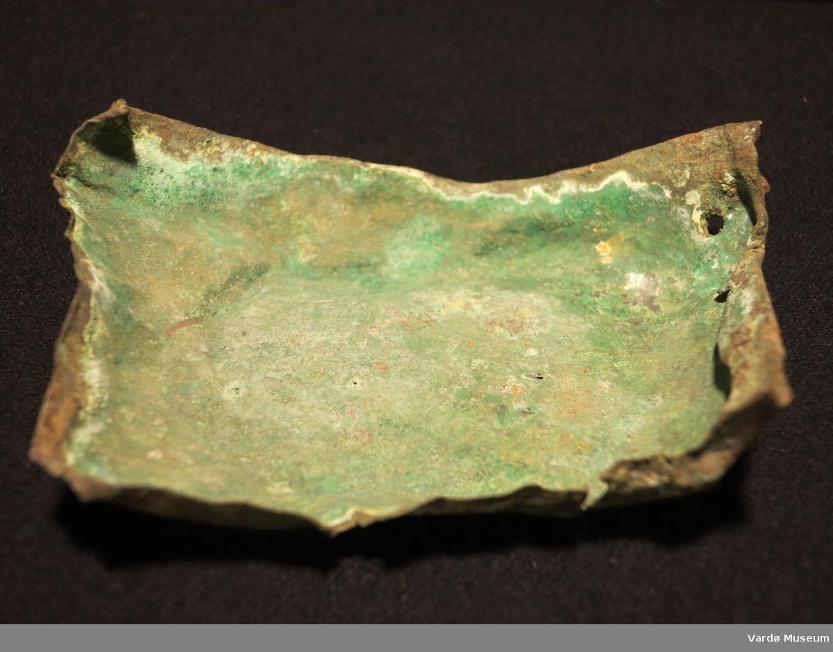 Del av en bronsegryte fra sen middelalderen.