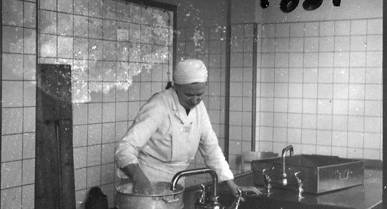 Kökspersonal, köket i Skillingaryd.