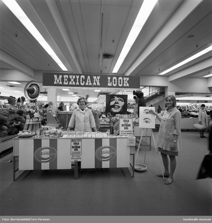 """Demonstration av smink på Tempovaruhuset. Produkter och tips om hur man uppnår """"Mexican look""""."""
