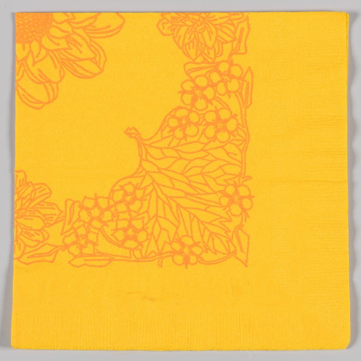 Stilisert blomst og bladmønster.