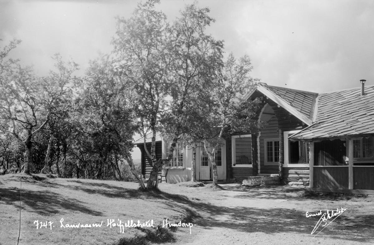 Sør-Fron, Gålå. Lauvåsen Høyfjellshotell med den opprinnelige paviljongen fra 1898