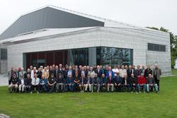 Gruppbild av ubåtsbesättningsmän. Stumholmen Karlskrona.