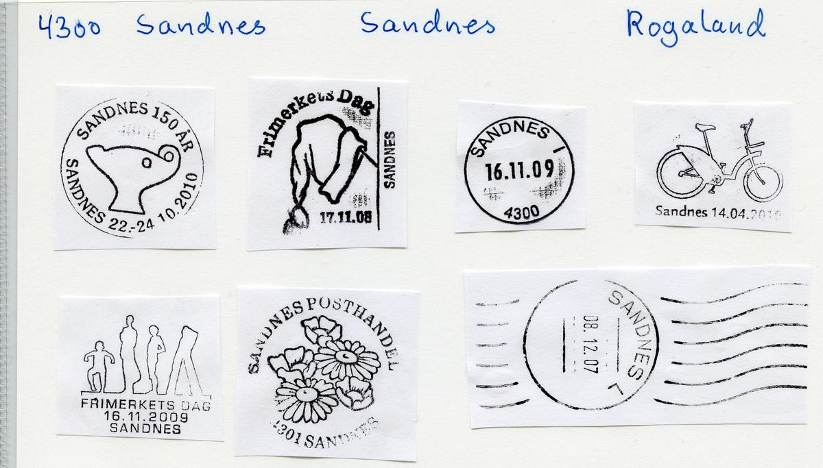 Stempelkatalog  4300 Sandnes, Sandnes kommune, Rogaland
