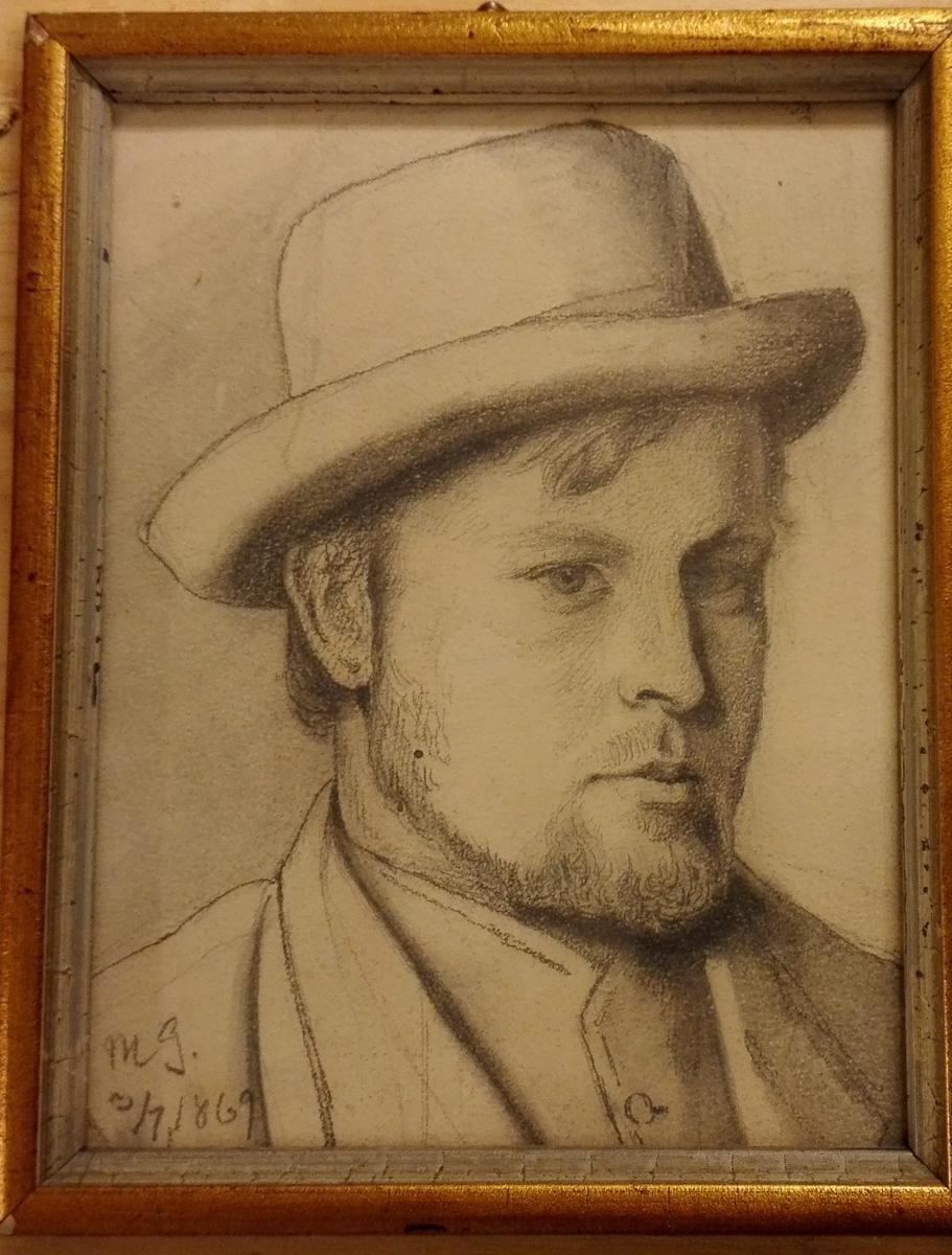 Mannsportrett, person ukjendt,3/7.1869.