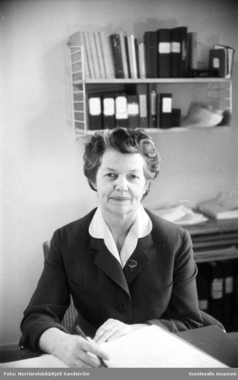 Märta Edström, husmor på sjukhuset.