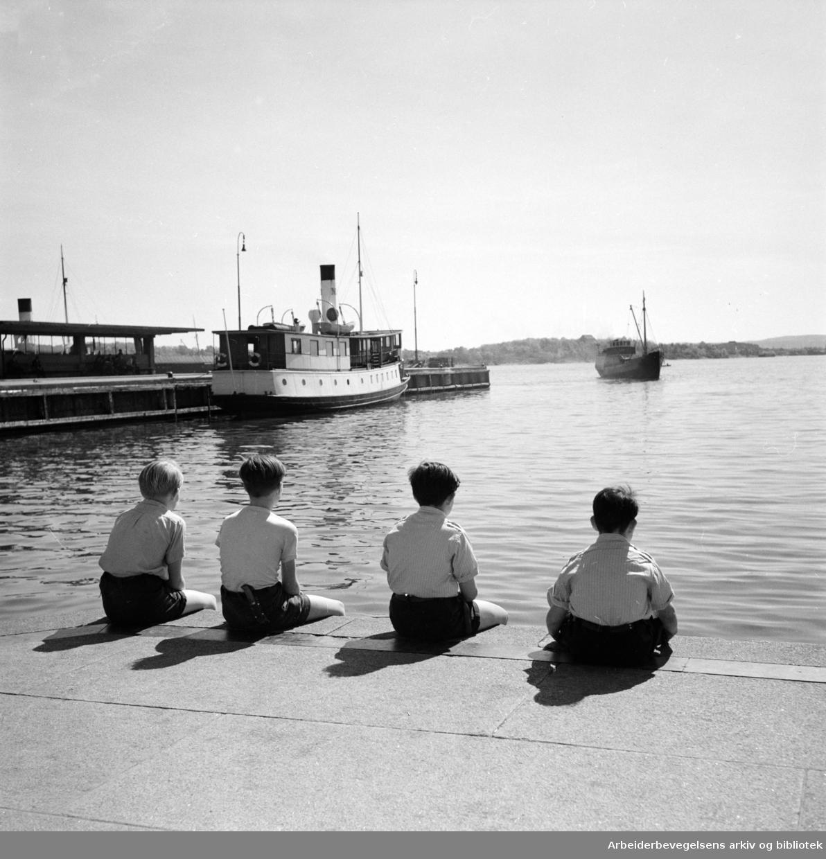 Havna. Stemningsbilder. 1952 - 1959