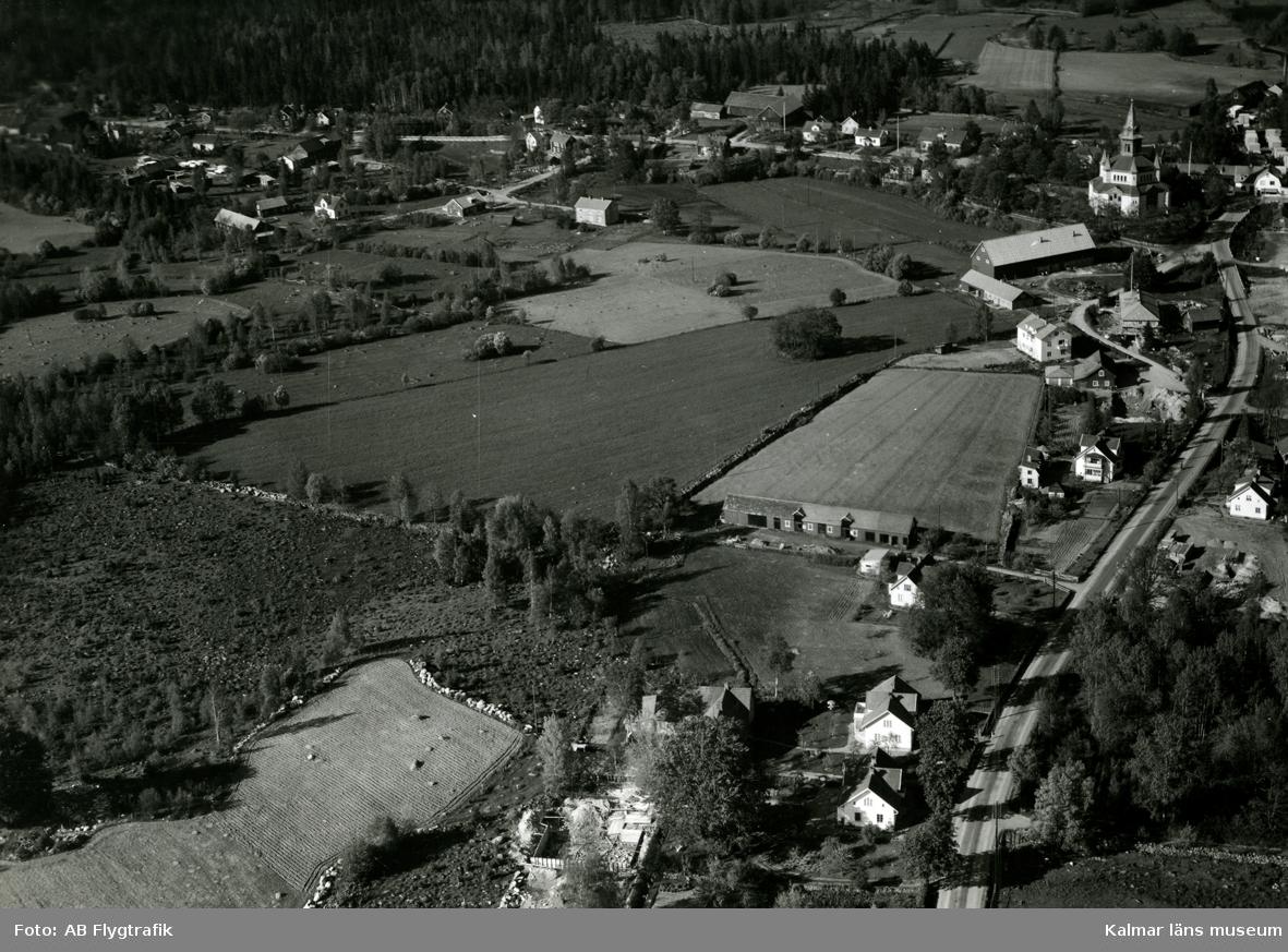 Vykortsförlaga, flygfoto över Örsjö.