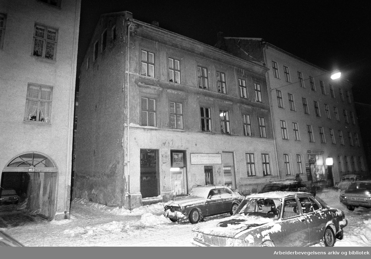 Grüners gate 13. Januar 1977