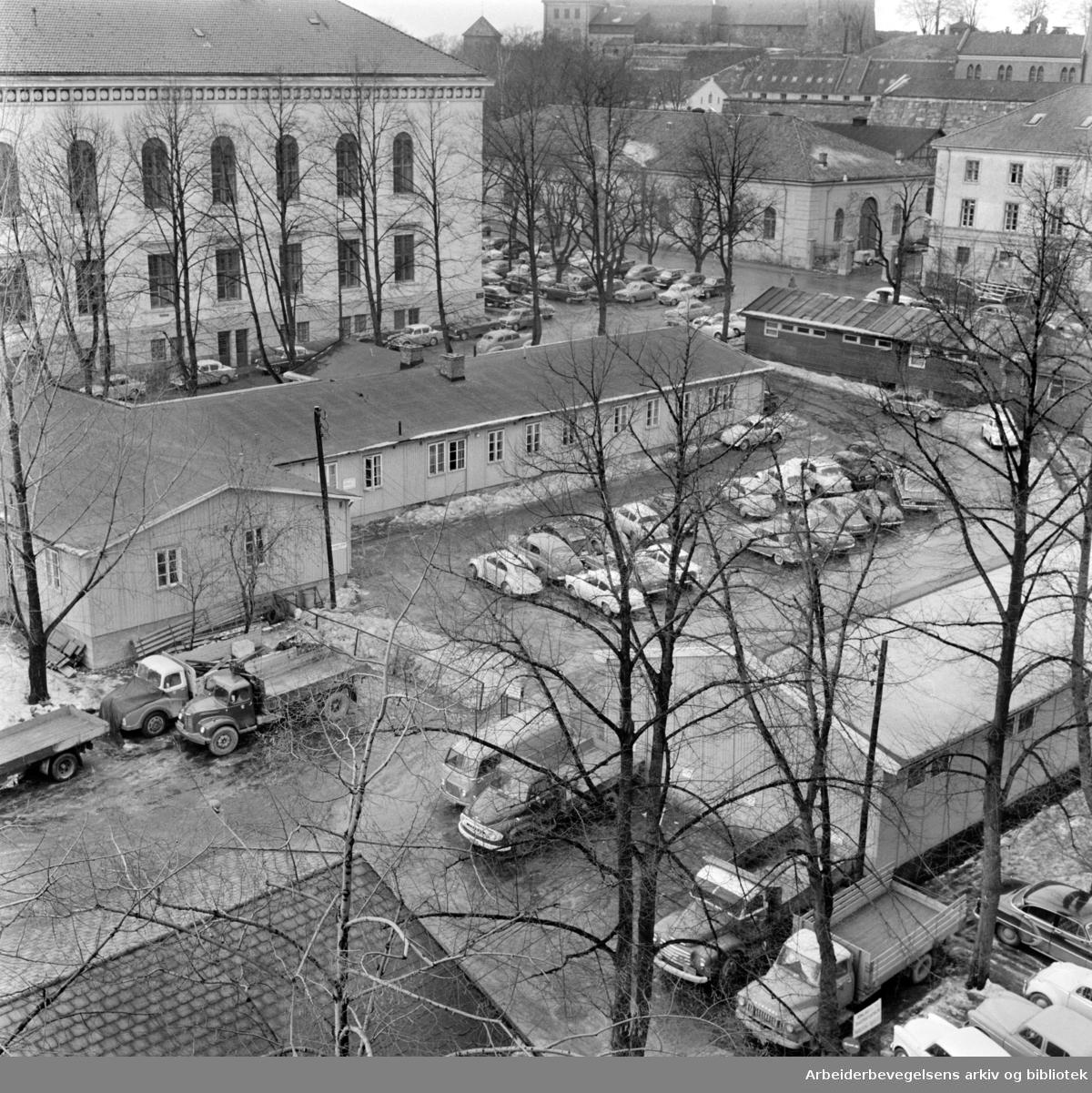 Grev Wedels Plass. Mars 1963
