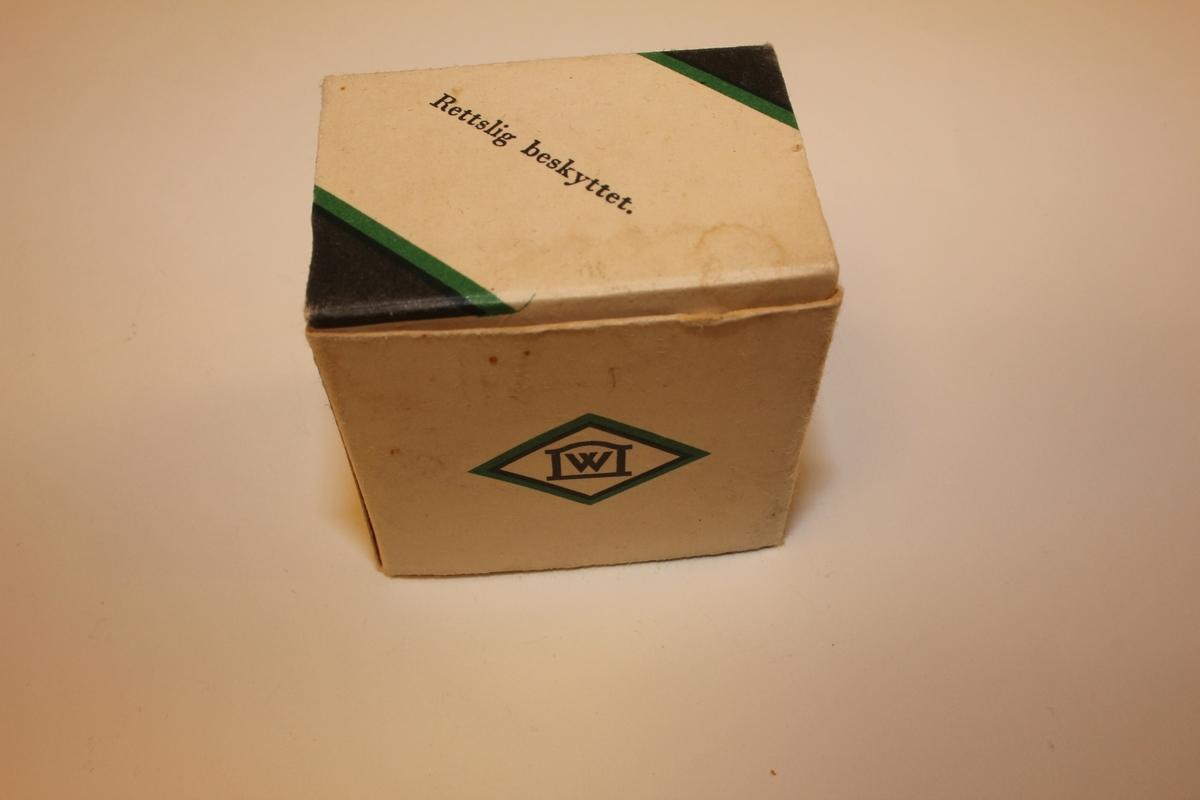 Ubrukt såpestykke i originalemballasje. Pakningsvedlegg med omtale av produkt og bruksanvisning.