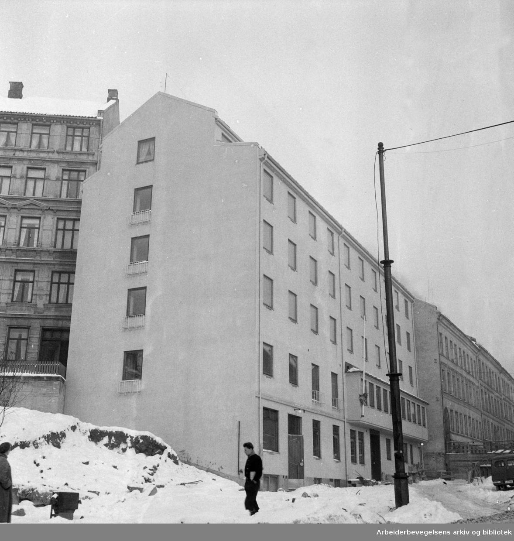 Frelsesarmeens nybygg i Borggt. Januar 1956