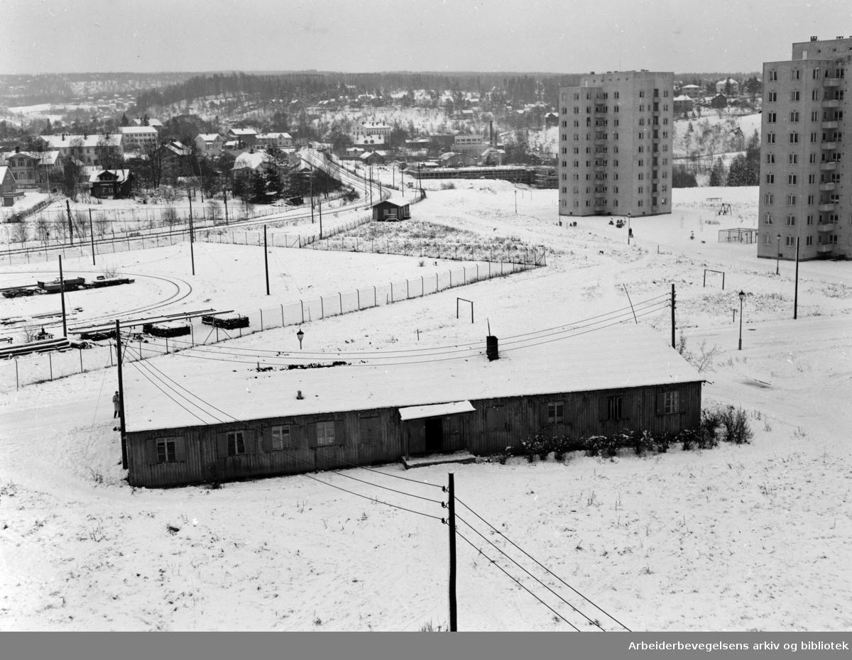 Etterstad. Friarealer som ligger brakk på Etterstad.November 1954