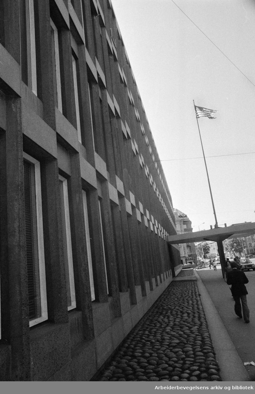 Drammensveien. Den Amerikanske Ambassade. August 1974