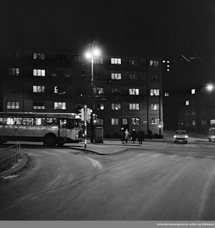 Carl Berners Plass. Desember 1960