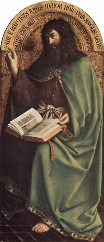 Johannes Døperen gjengitt i Jan van Eycks - The Yorck Project (2002) 10.000 Meisterwerke der Malerei