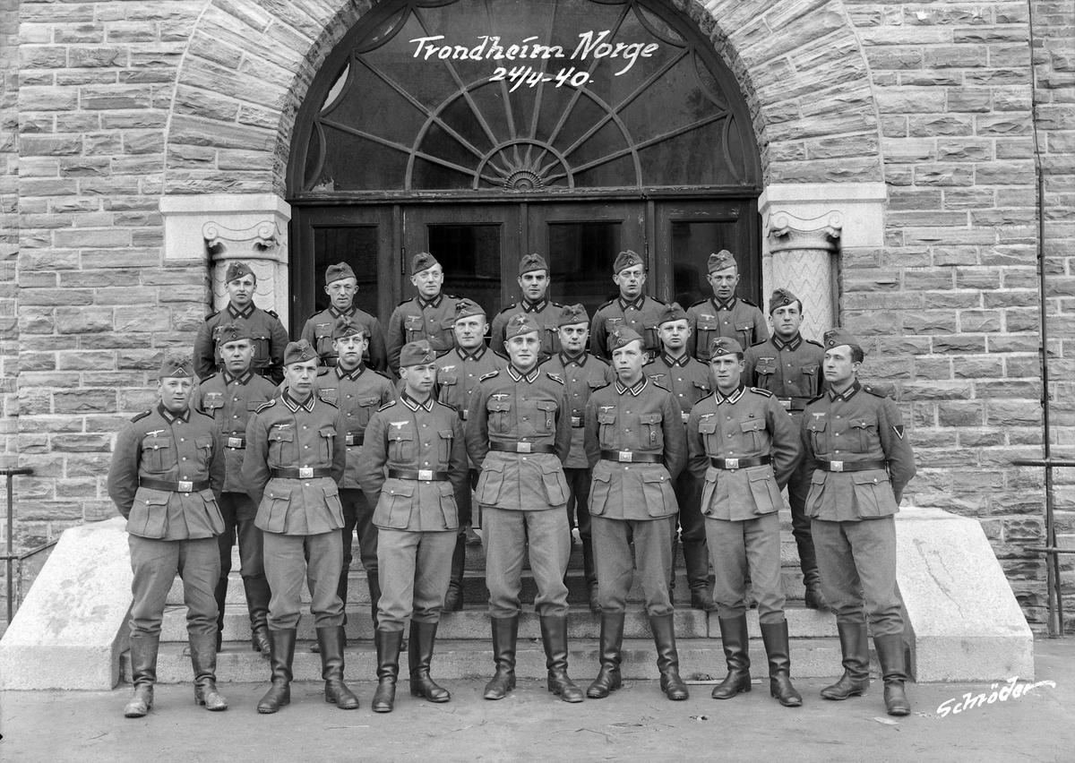 Tysk soldater på Ila skole