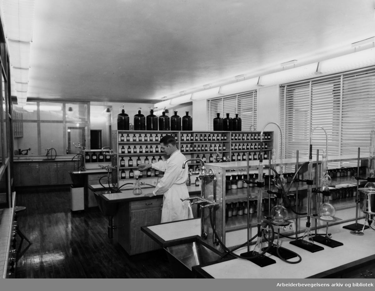 Apotekernes laboratorium. NAF Laboratorium.1953