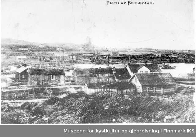 bebyggelse på østersia av Vågen - Grundthuset, 1890