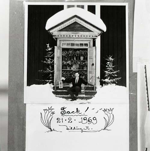 Ett tackkort från Hildings 50-årsfest, 21/2 1969.